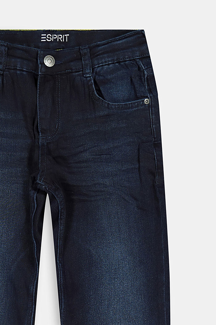 Washed Stretch-Jeans mit Verstellbund, BLUE DARK WASHED, detail image number 2