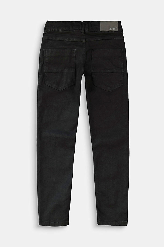 Stretchjeans met verstelbare band, BLACK DARK WASHED, detail image number 1
