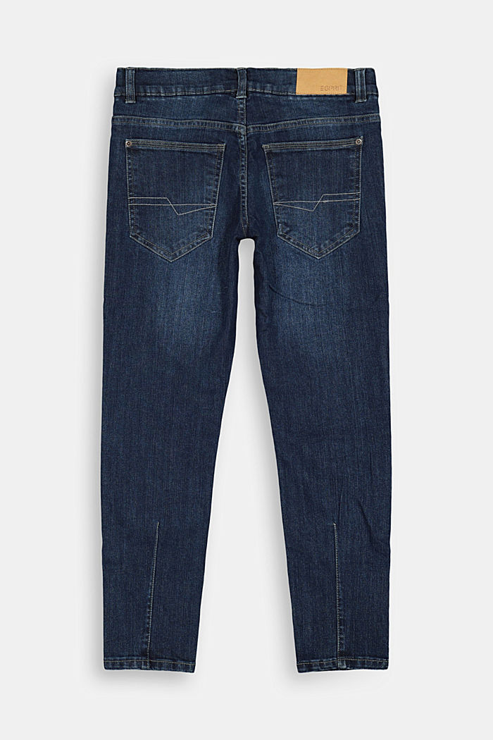 Washed stretch jeans with an adjustable waistband, BLUE MEDIUM WASHED, detail image number 1