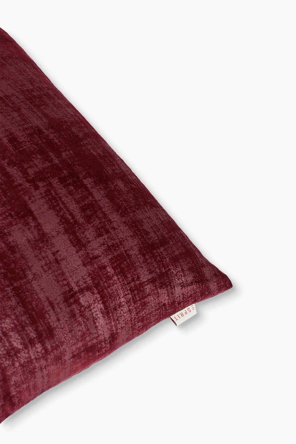 Scratch cushion cover in velvet, BORDEAUX, detail image number 1