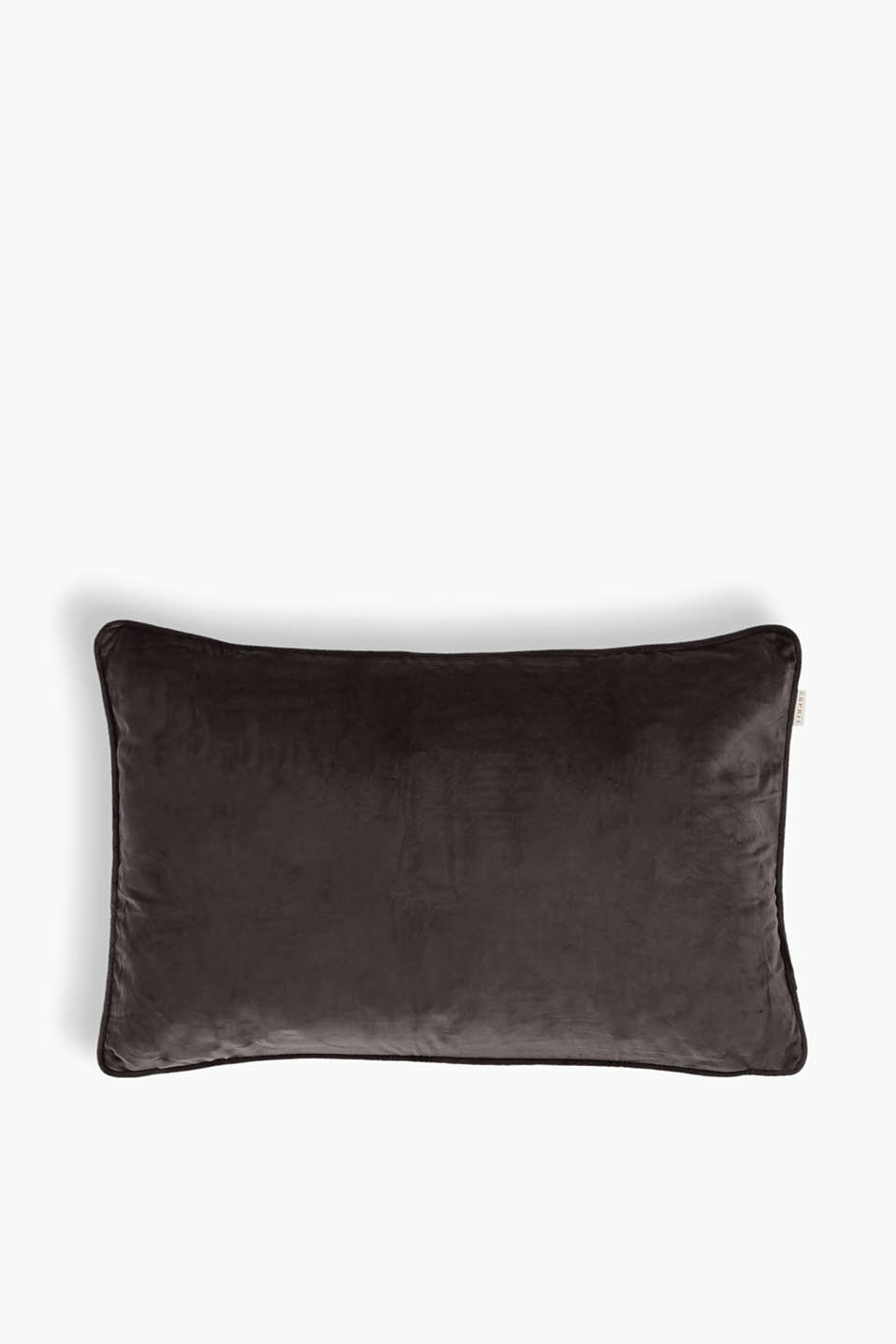 Cushion cover made of velvet, BROWN, detail image number 0