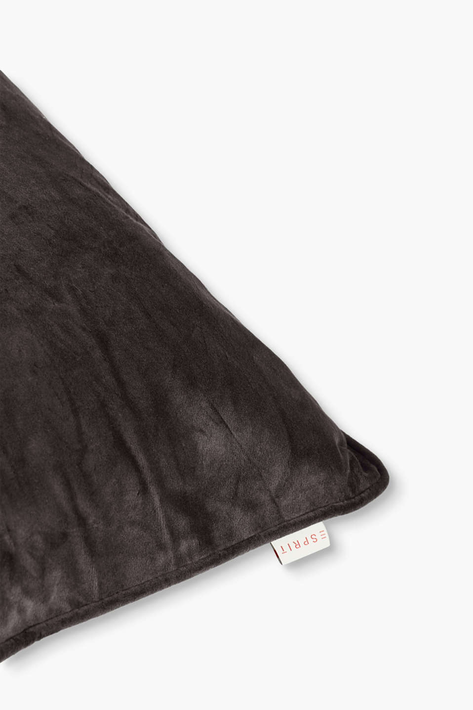 Cushion cover made of velvet, BROWN, detail image number 1