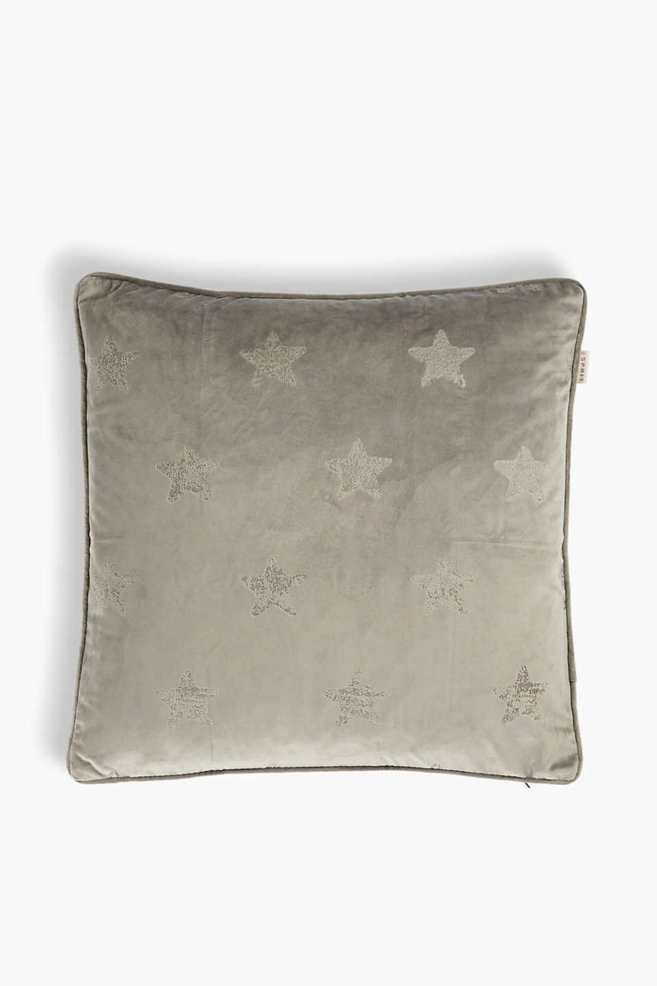 Esprit - Velvet cushion cover with stars
