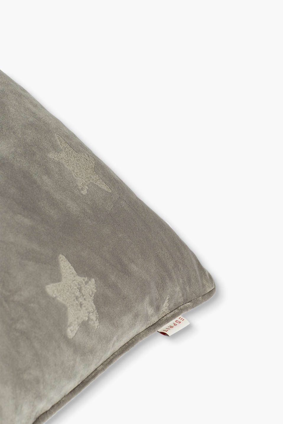 Velvet cushion cover with stars