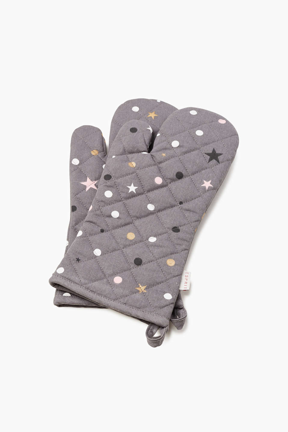 Esprit - 2-piece set of oven gloves with stars