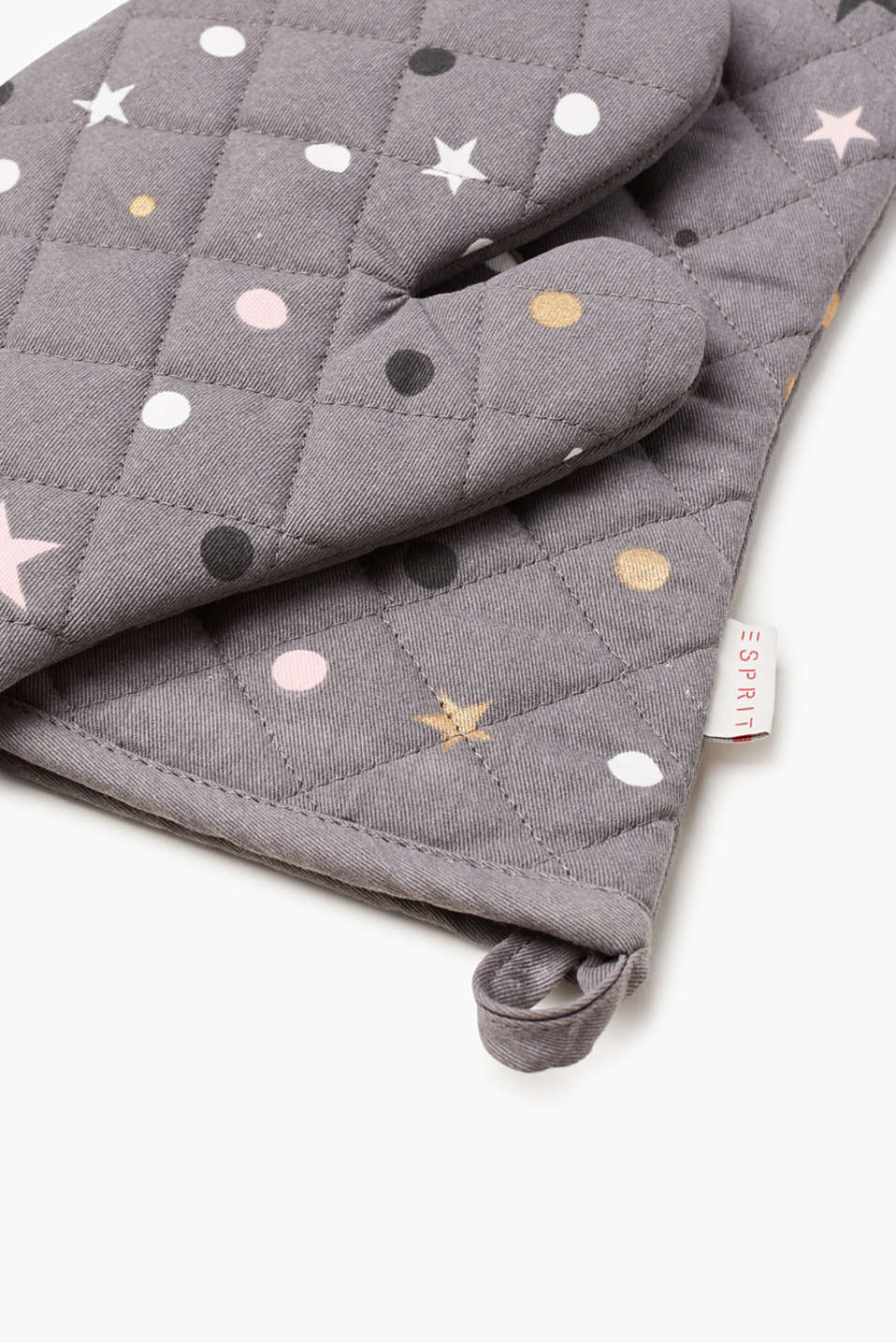 2-piece set of oven gloves with stars
