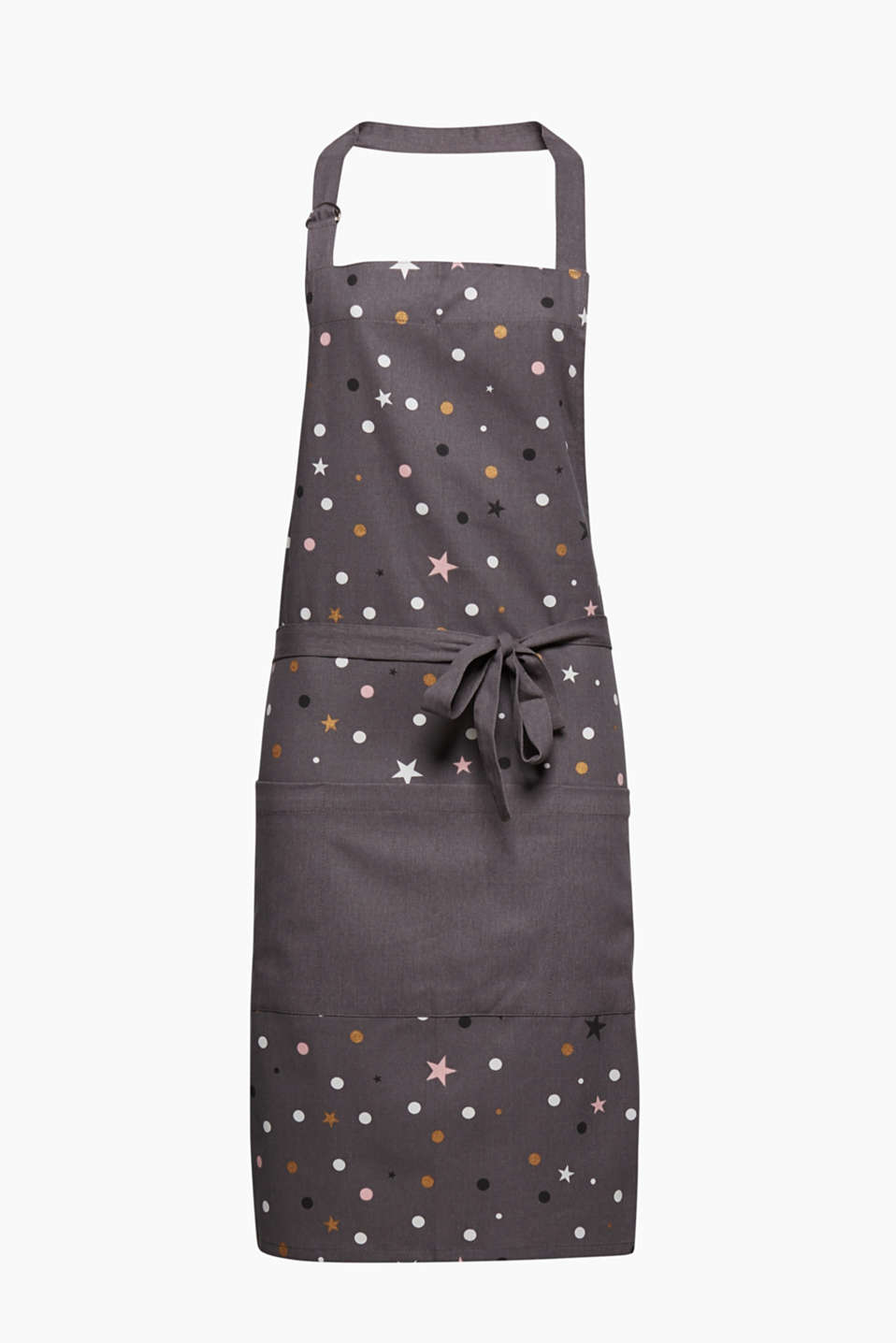 SHIMMER Collection - stars and polka dots make this kitchen apron extremely eye-catching.