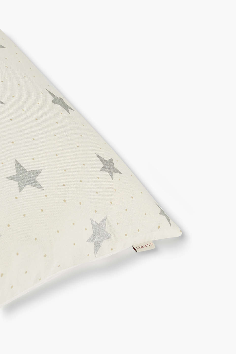 Cotton cushion cover with stars