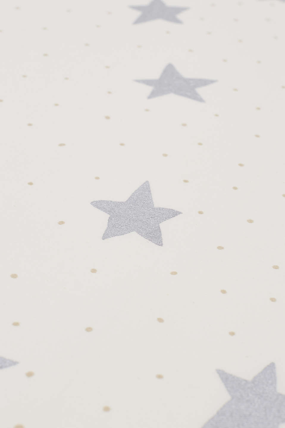Sparkly table runner with stars + polka dots