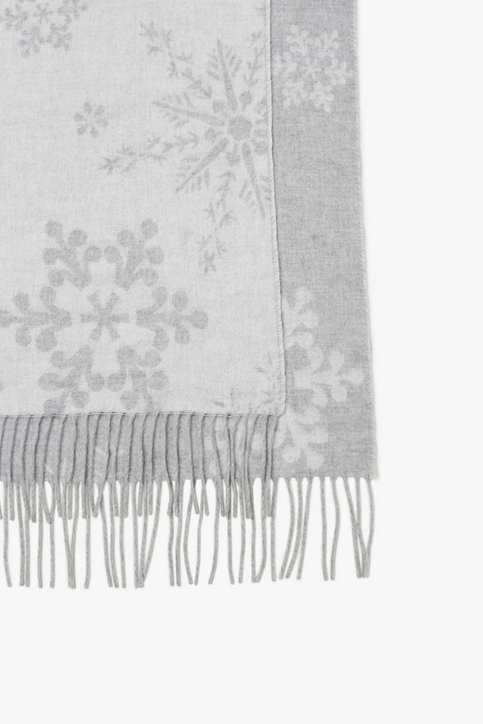 Soft reversible throw with fringing, Crystal, GREY-OFFWHITE, detail image number 2