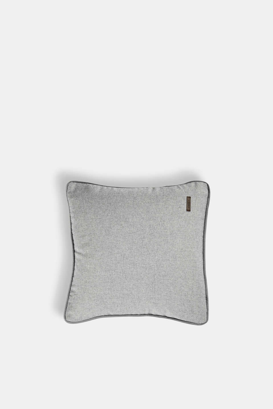 Cushion cover with velvet piping, LIGHT GREY, detail image number 0