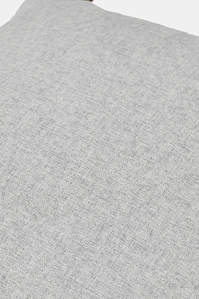 Cushion cover with velvet piping, LIGHT GREY, detail image number 3