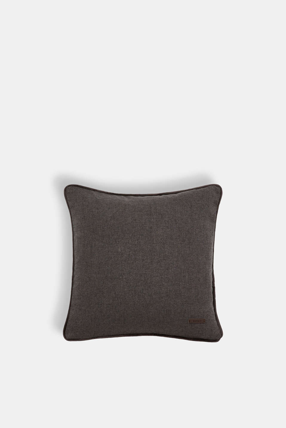 Cushion cover with velvet piping, DARK GREY, detail image number 0