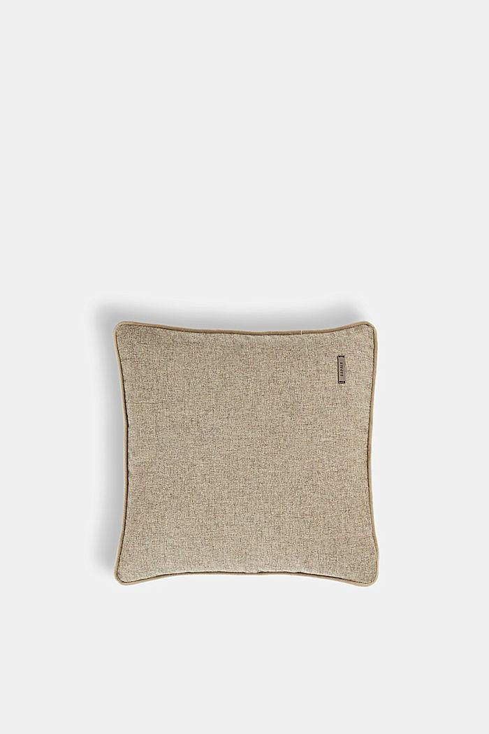 Poszewka na poduszkę z aksamitną lamówką, CHOCOLATE, detail image number 0