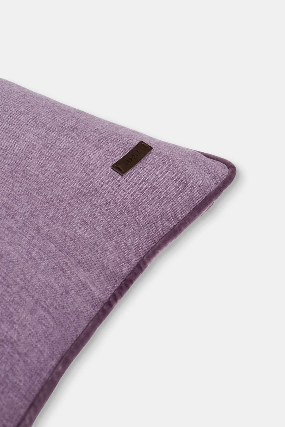Cushion cover with velvet piping, LILAC, detail image number 1