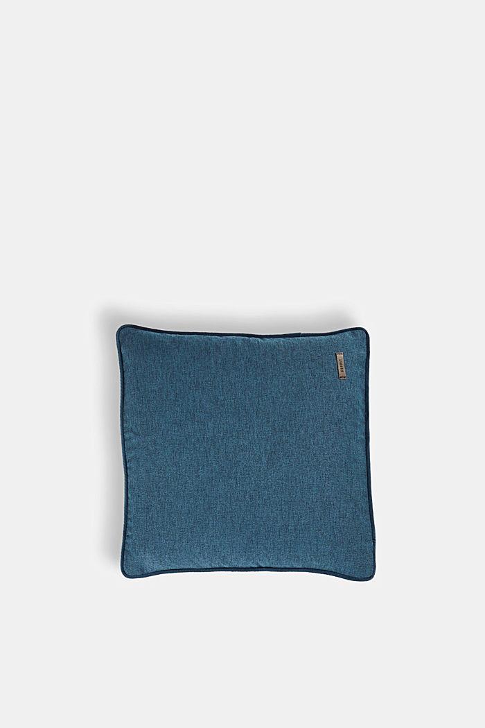 Kissenhülle mit Samt-Paspel, PETROL, detail image number 0