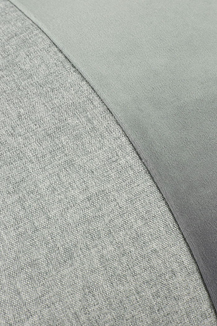 Material mix cushion cover with micro-velvet, LIGHT GREY, detail image number 2