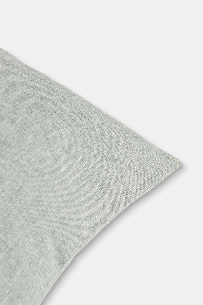 Material mix cushion cover with micro-velvet, LIGHT GREY, detail image number 1