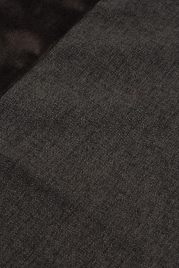 Kissenhülle im Material-Mix mit Micro-Samt, DARK GREY, detail image number 2