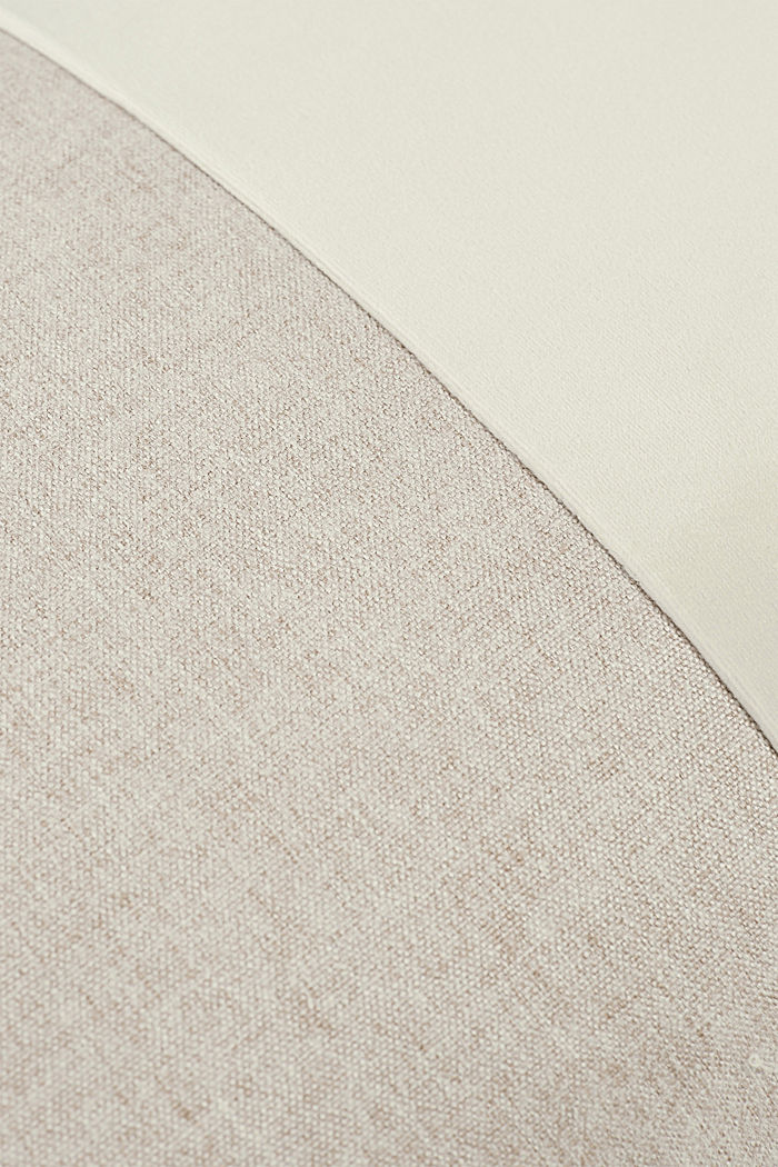 Material mix cushion cover with micro-velvet, NATURE, detail image number 2
