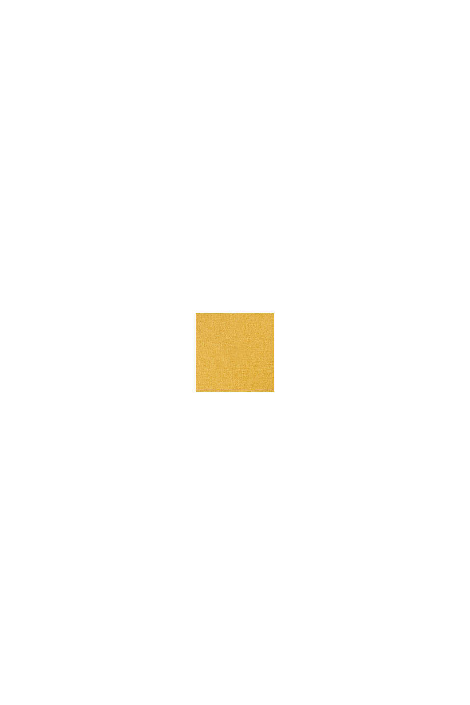 Kissenhülle im Material-Mix mit Micro-Samt, MUSTARD, swatch