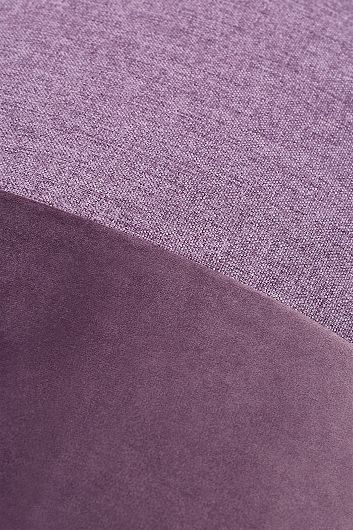 Material mix cushion cover with micro-velvet, LILAC, detail image number 2
