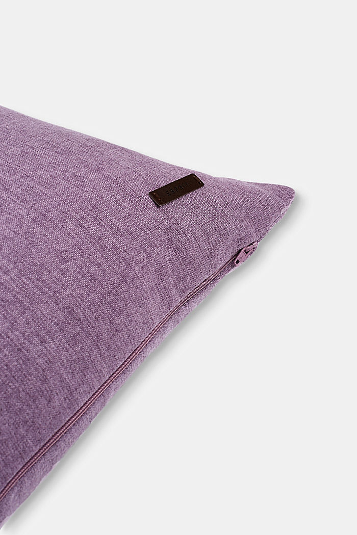 Material mix cushion cover with micro-velvet, LILAC, detail image number 1