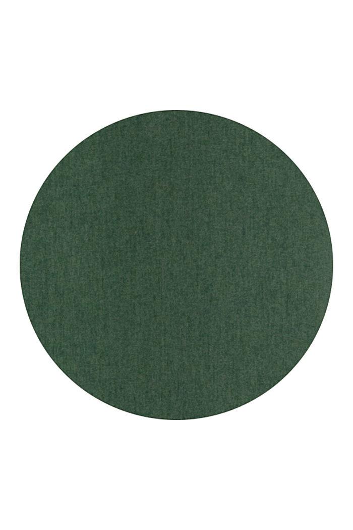 Ösenschal aus Webstoff, DARK GREEN, detail image number 2