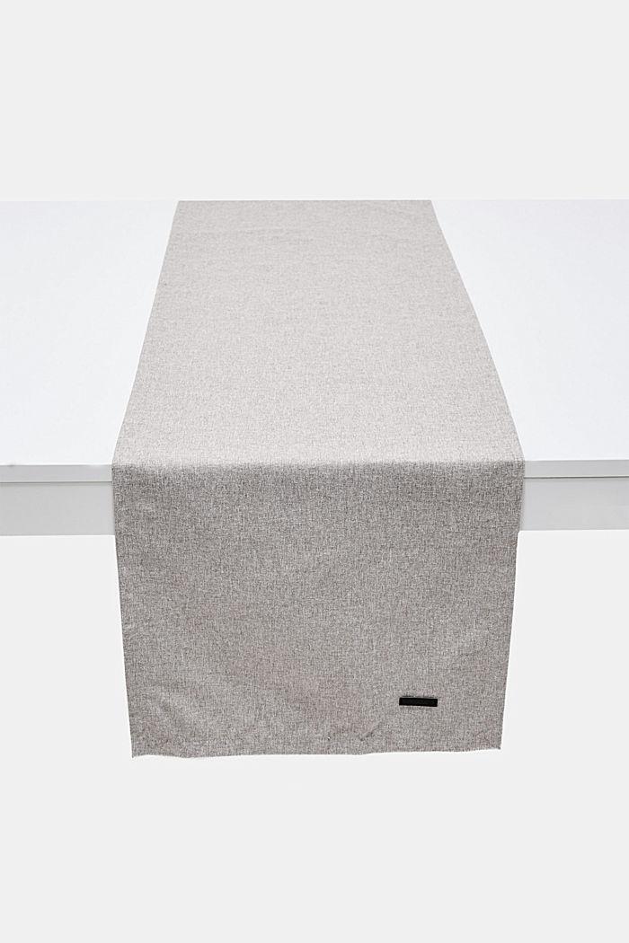 Table runner in melange woven fabric