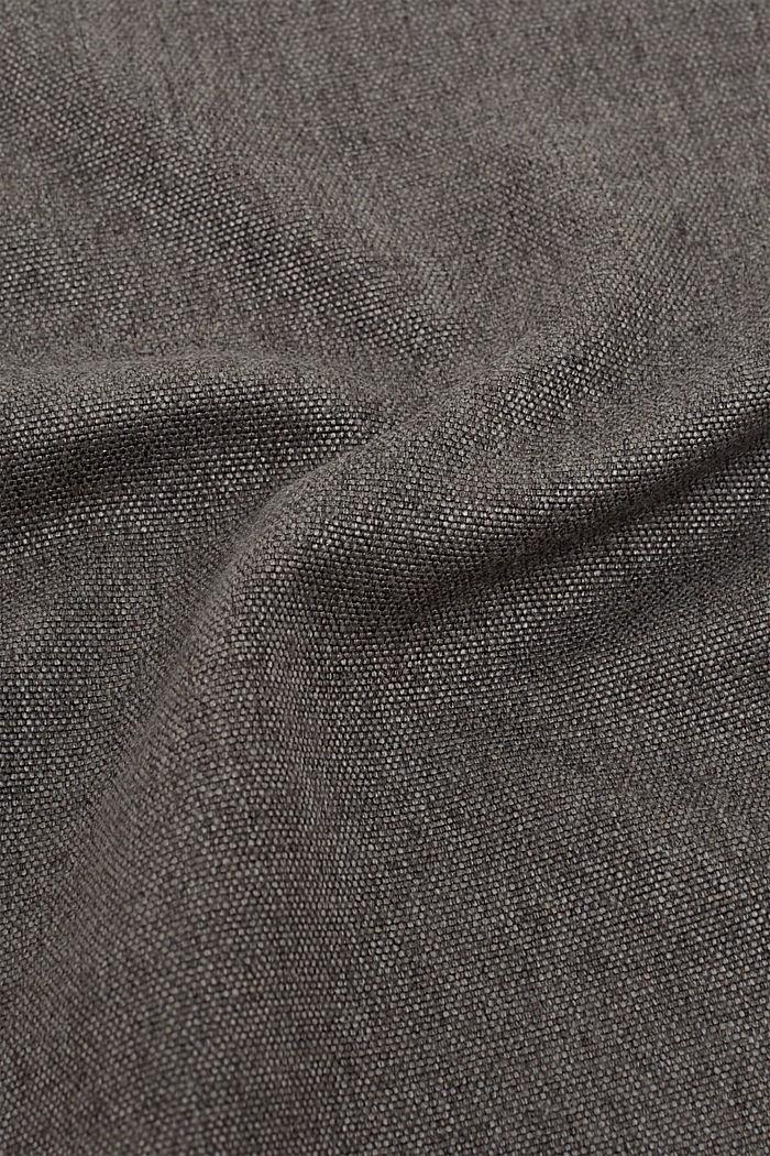 Bieżnik z melanżowej tkaniny, DARK GREY, detail image number 2