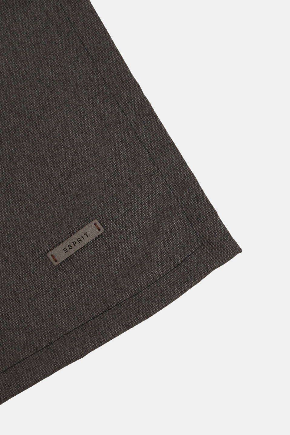 Table runner in melange woven fabric, DARK GREY, detail image number 1