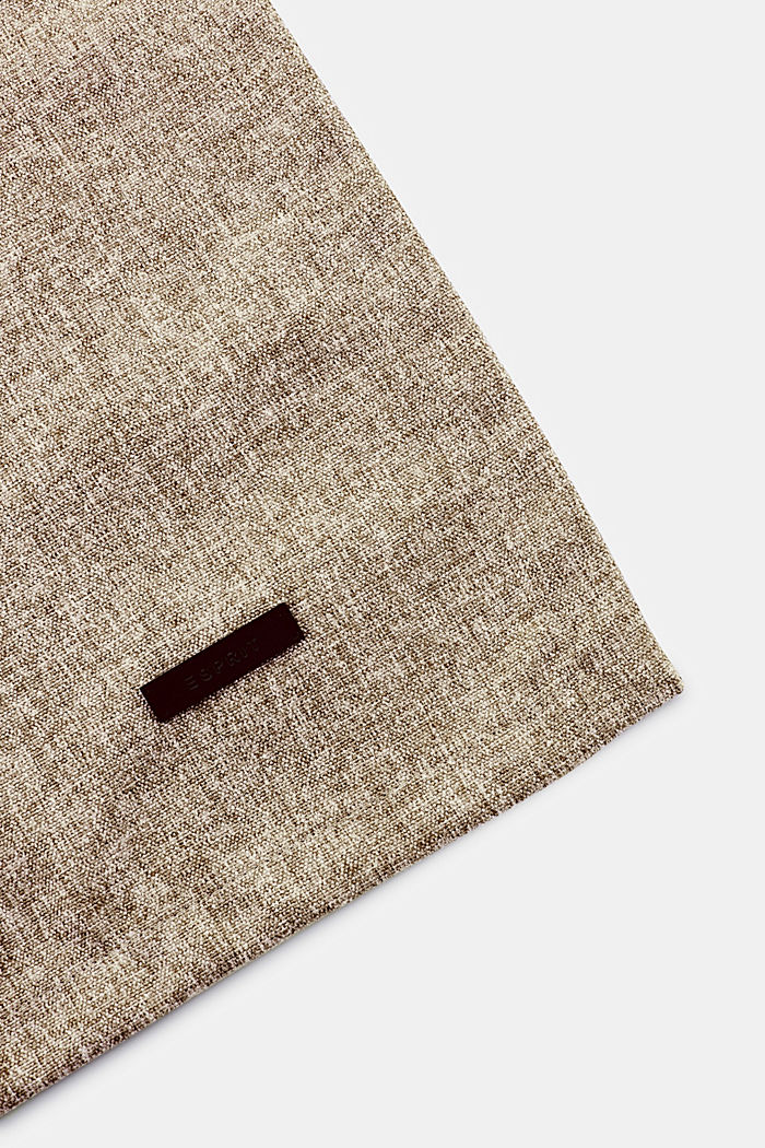 Table runner in melange woven fabric, CHOCOLATE, detail image number 1