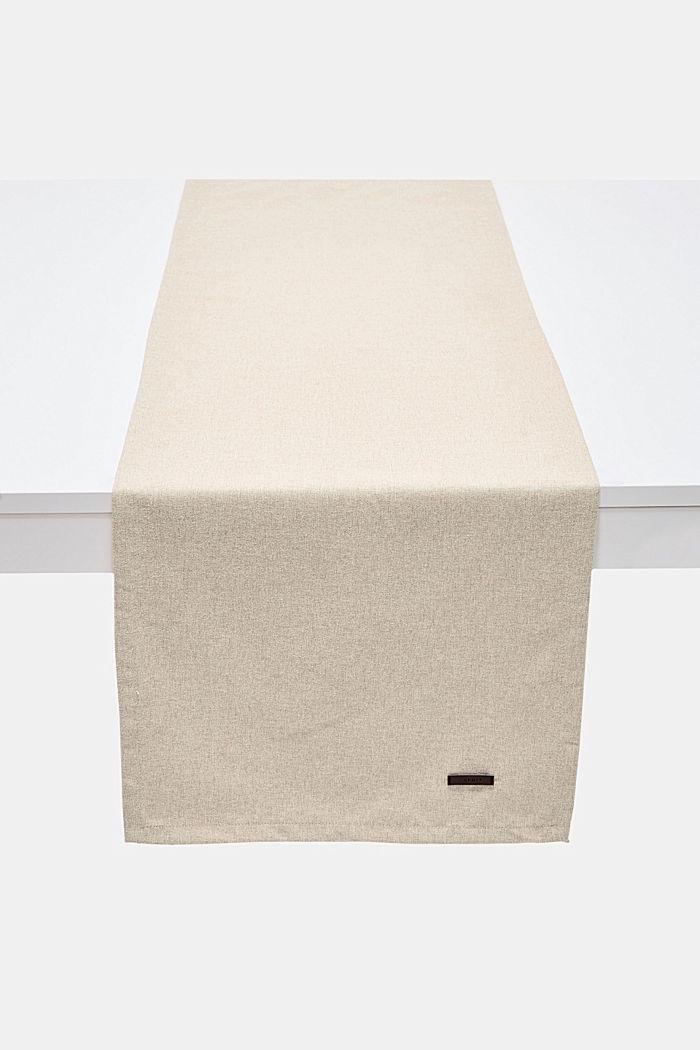 Tischläufer aus meliertem Webstoff, NATURE, detail image number 0