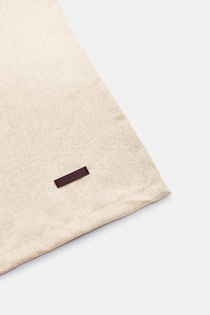 Tischläufer aus meliertem Webstoff, NATURE, detail image number 1