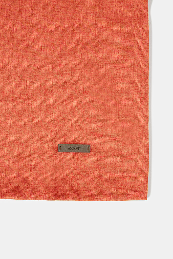 Table runner in melange woven fabric, RUST, detail image number 1