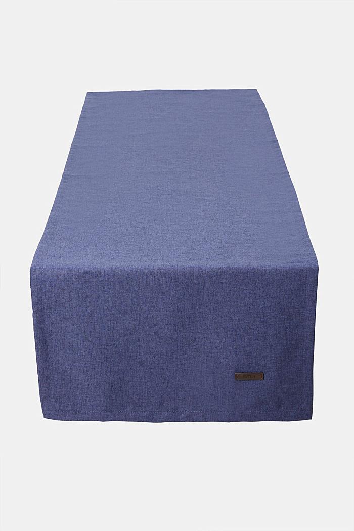 Tischläufer aus meliertem Webstoff, NAVY, detail image number 0