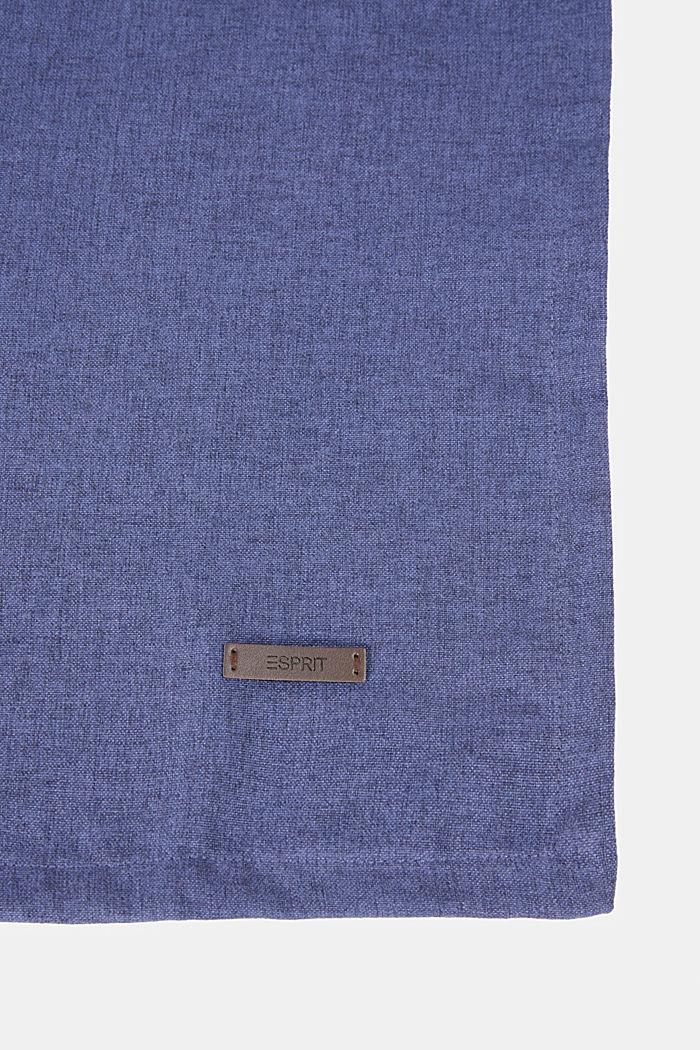 Tischläufer aus meliertem Webstoff, NAVY, detail image number 1