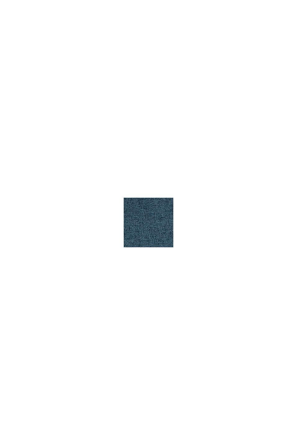 Chemin de table en tissu chiné, PETROL, swatch