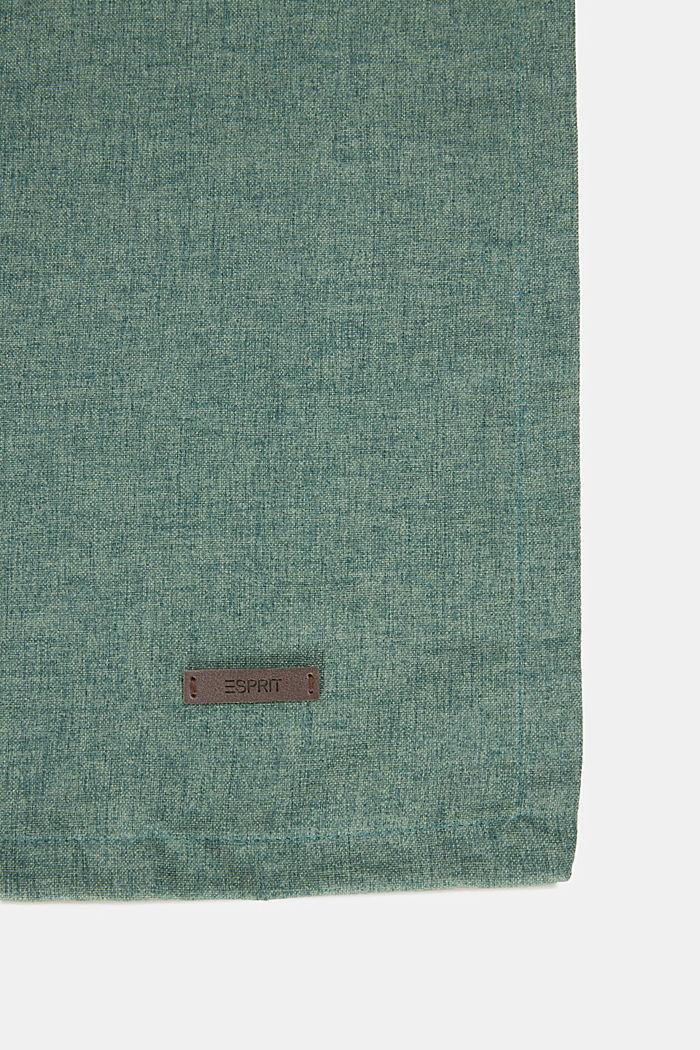 Chemin de table en tissu chiné, DARK GREEN, detail image number 1
