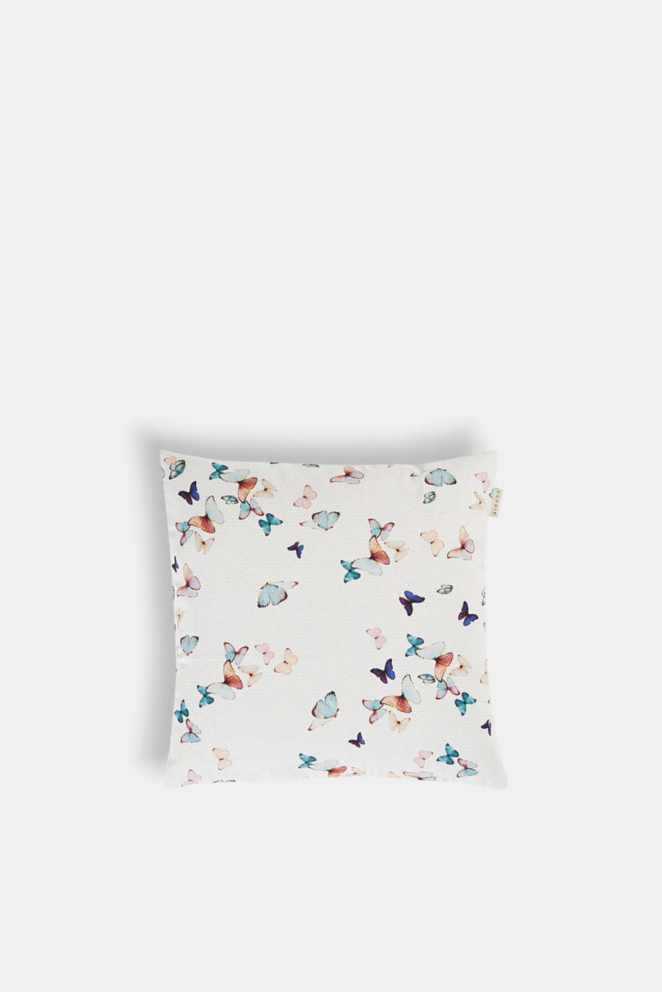 FLY Collection – colourful butterflies decorate this 100% cotton cushion cover, giving it a spring-like, cheerful look.