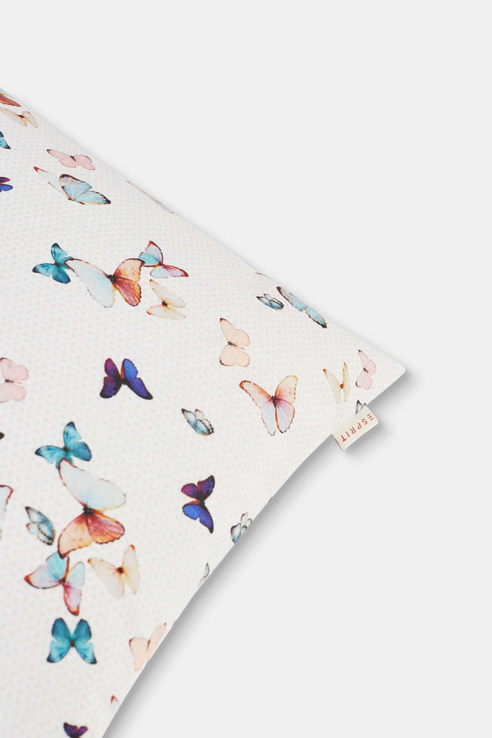 Printed cushion cover with butterflies, MULTICOLOR, detail image number 1