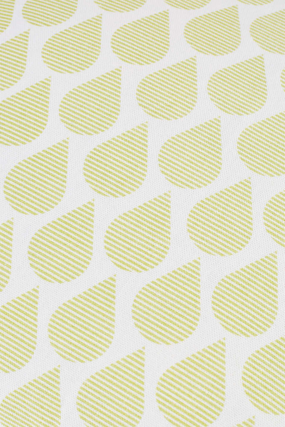 Cushion cover with digital teardrop print, LIME, detail image number 2