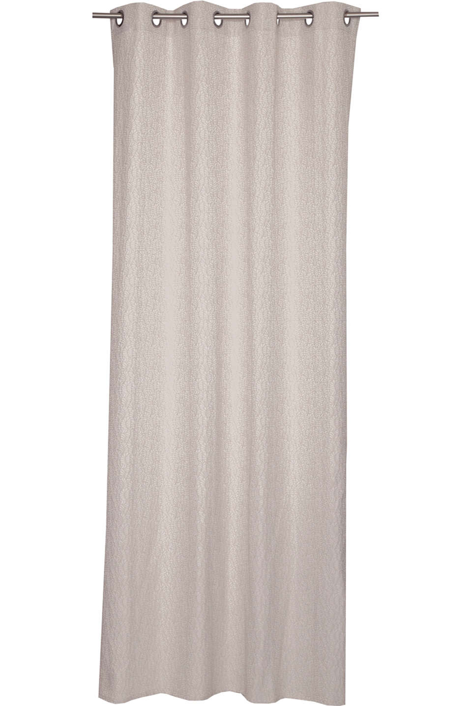 Esprit - Jacquard eyelet curtain with a leaf motif