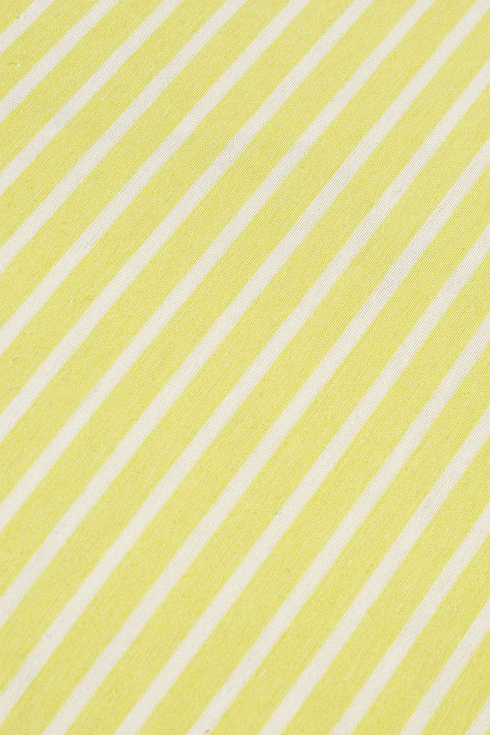 Cushion cover with stripes and piping, LIME, detail image number 2