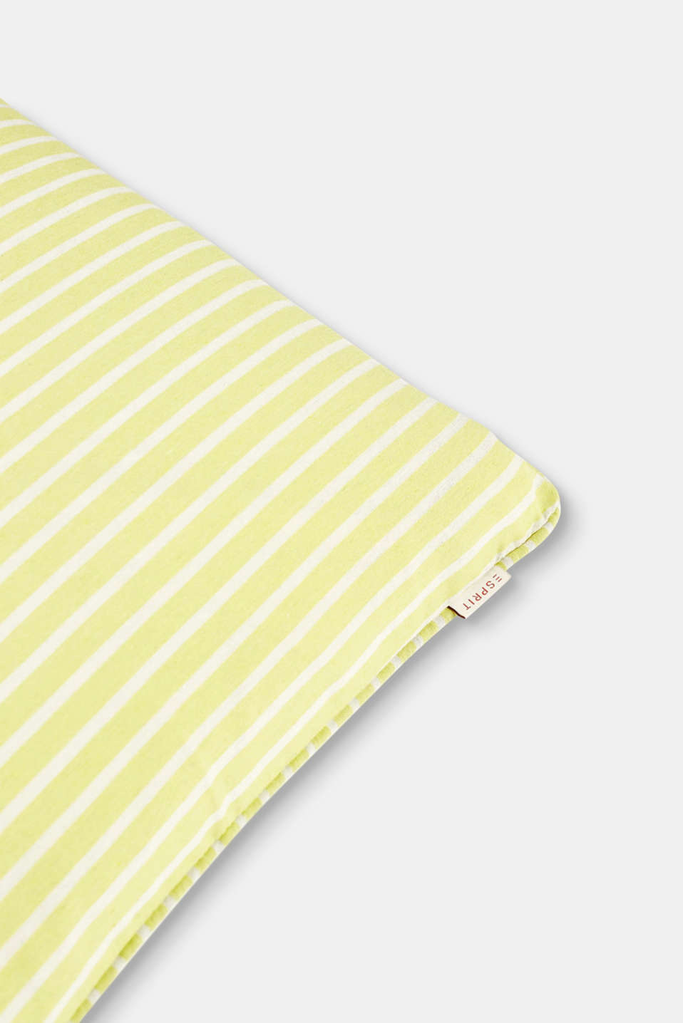 Cushion cover with stripes and piping, LIME, detail image number 1