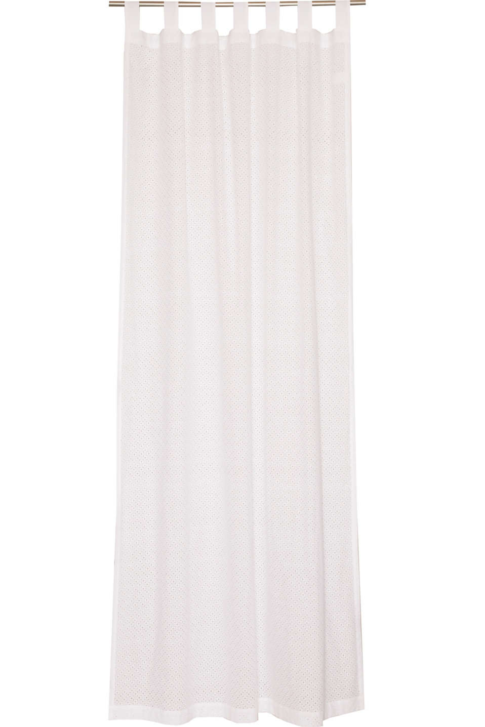 Esprit - Woven tab top curtain + broderie anglaise