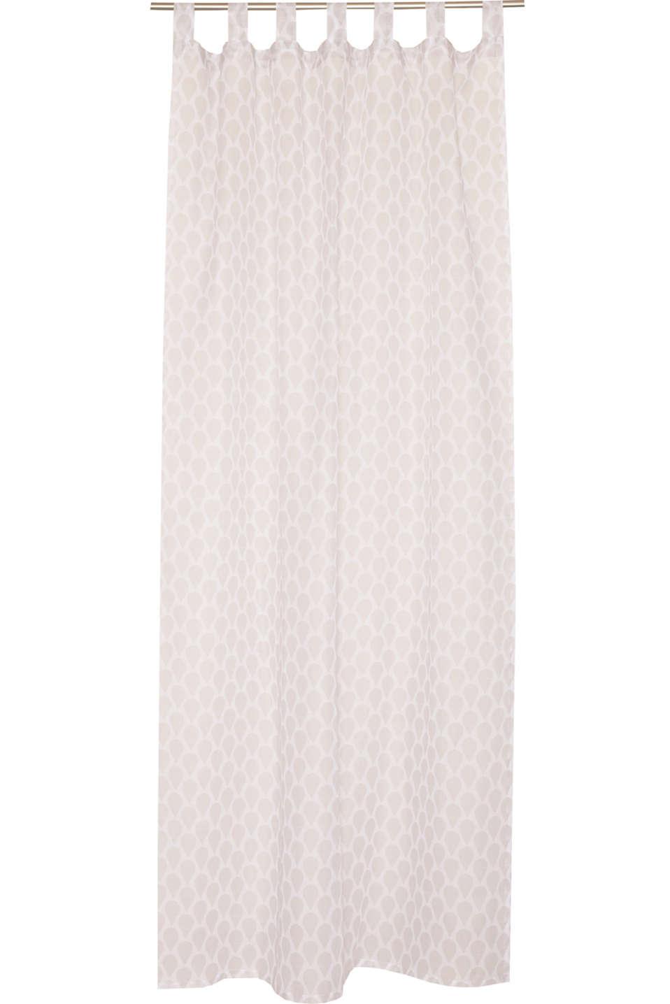 Esprit - Woven cotton tab top curtain