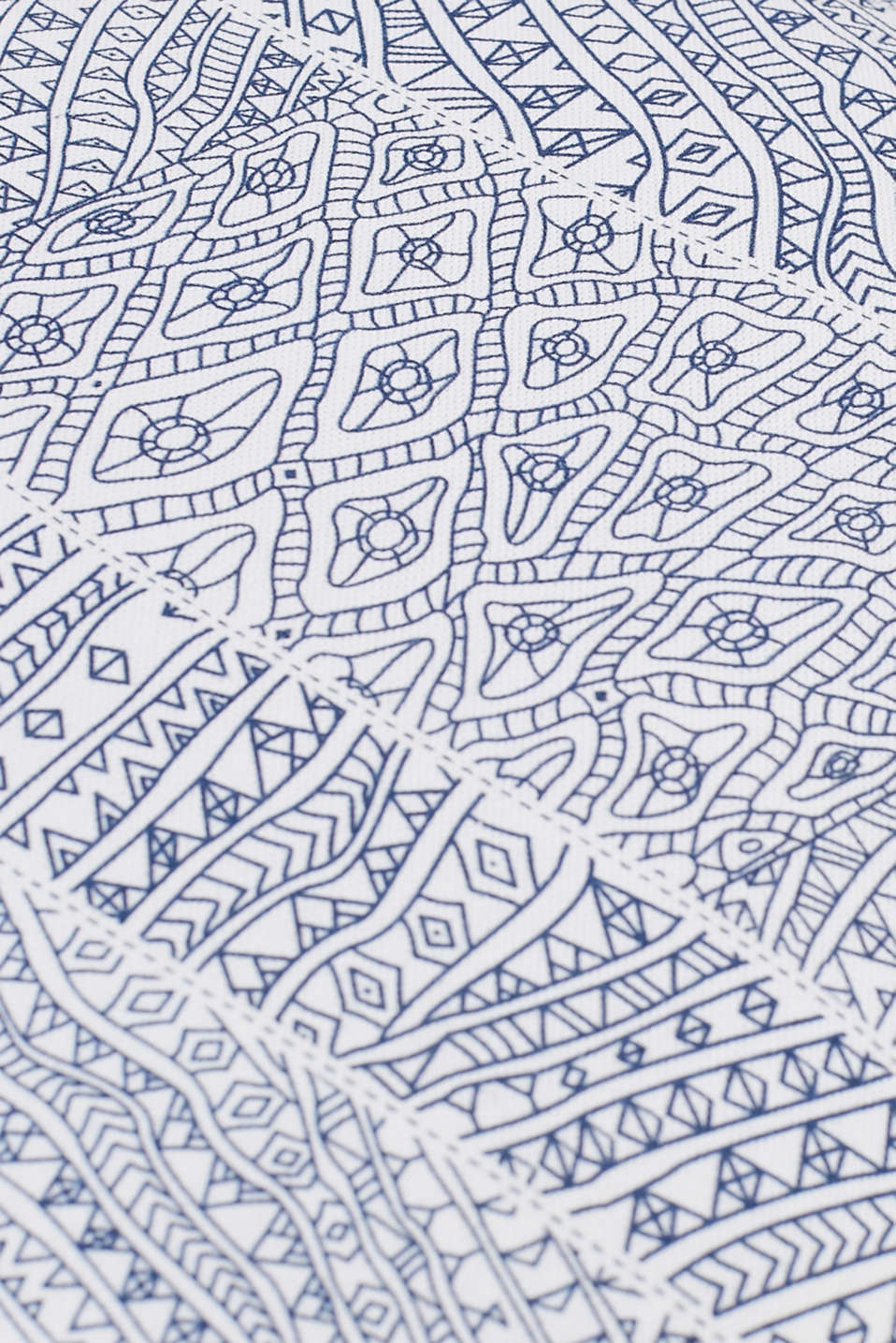 Digital print cushion cover in cotton , NAVY BLUE, detail image number 1