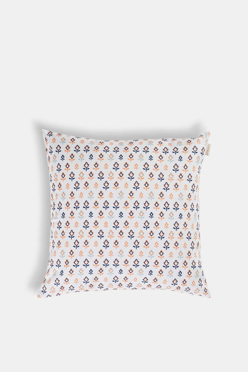 Retro print cushion cover in cotton, MULTI, detail image number 0