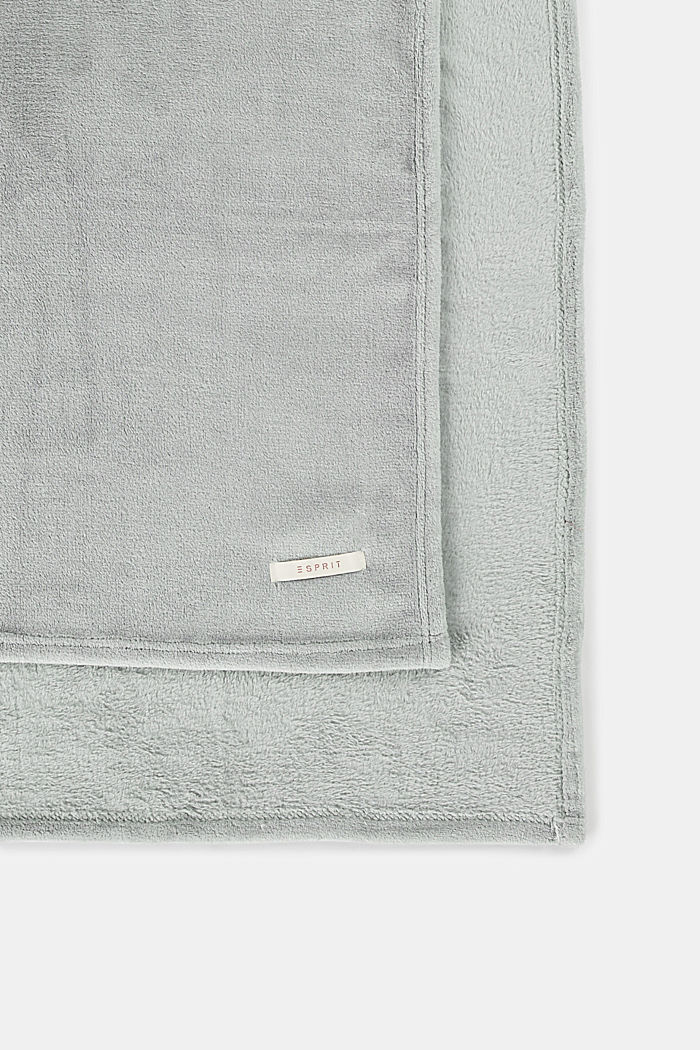 Plaid aus Fleece, LIGHT GREY, detail image number 0